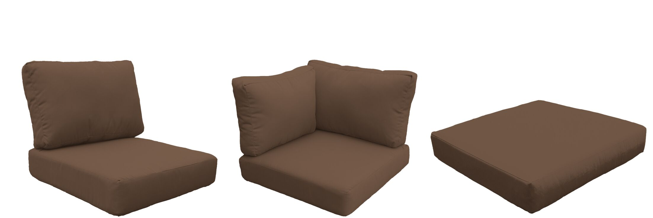 East Village Outdoor 22 Piece Lounge Chair Cushion Set Fabric: Cocoa
