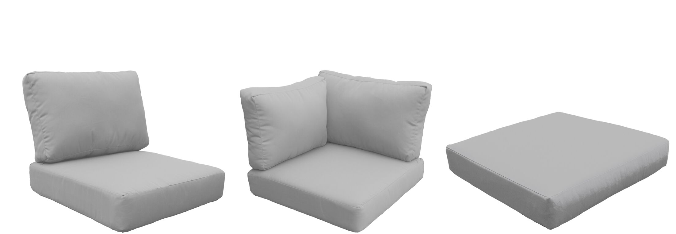 East Village Outdoor 22 Piece Lounge Chair Cushion Set Fabric: Gray