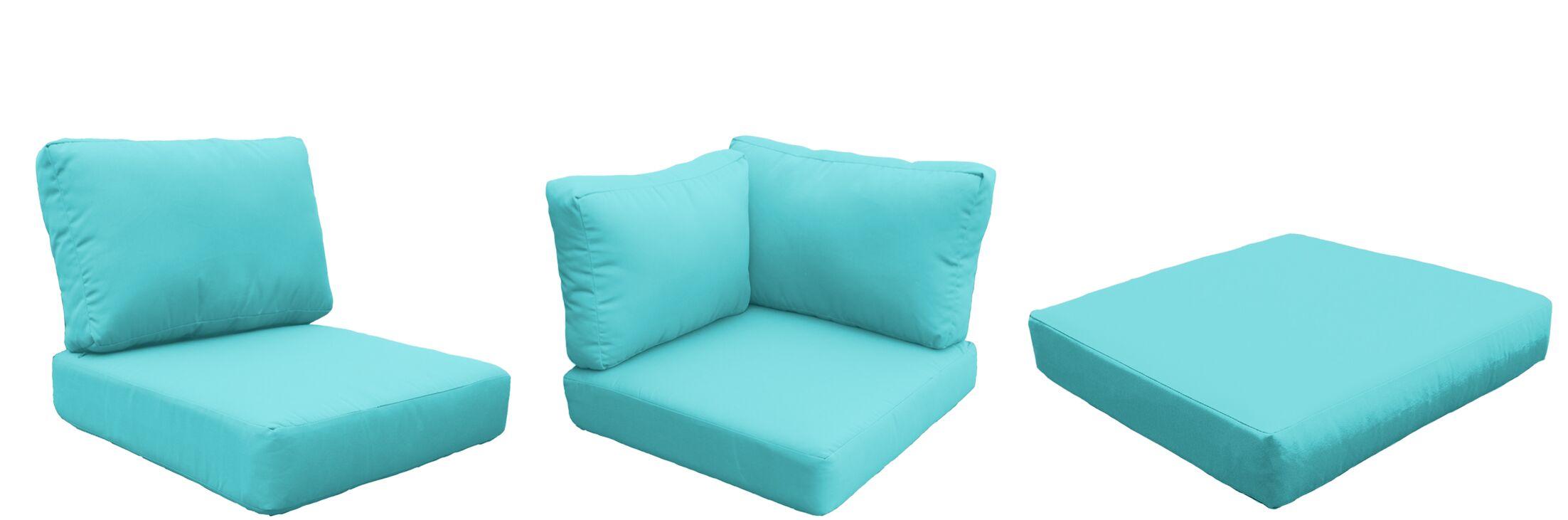East Village Outdoor 23 Piece Lounge Chair Cushion Set Fabric: Aruba