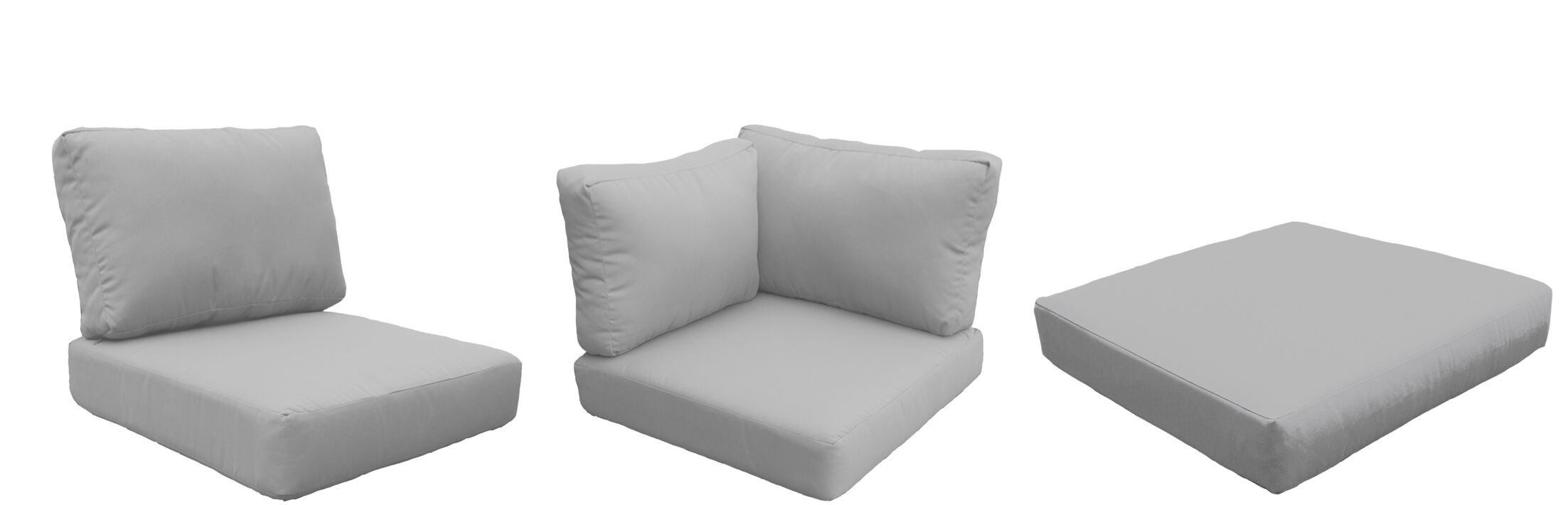 East Village Outdoor 21 Piece Lounge Chair Cushion Set Fabric: Gray