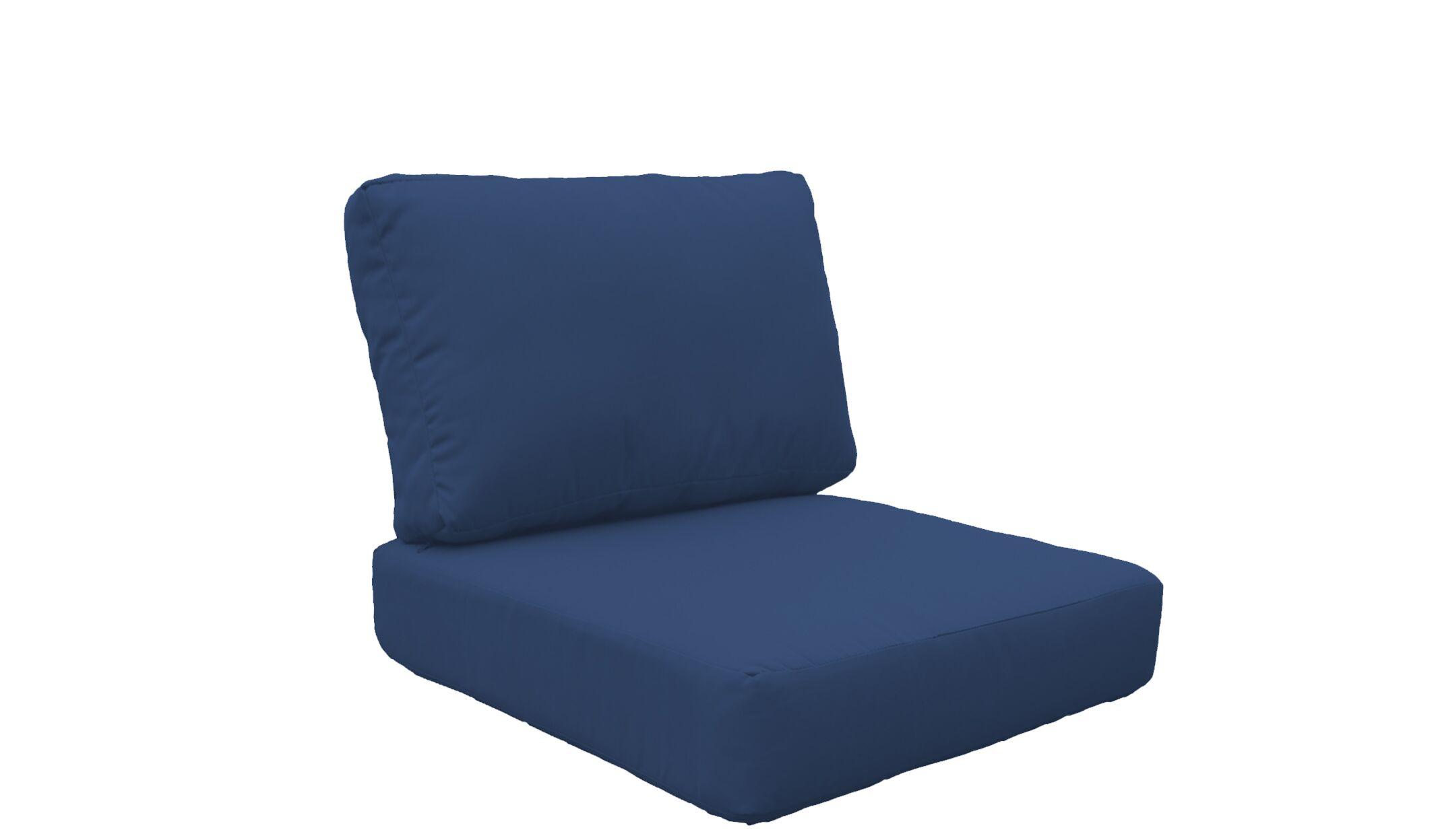 Fairmont 4 Piece Outdoor�Lounge Chair Cushion Set Fabric: Navy