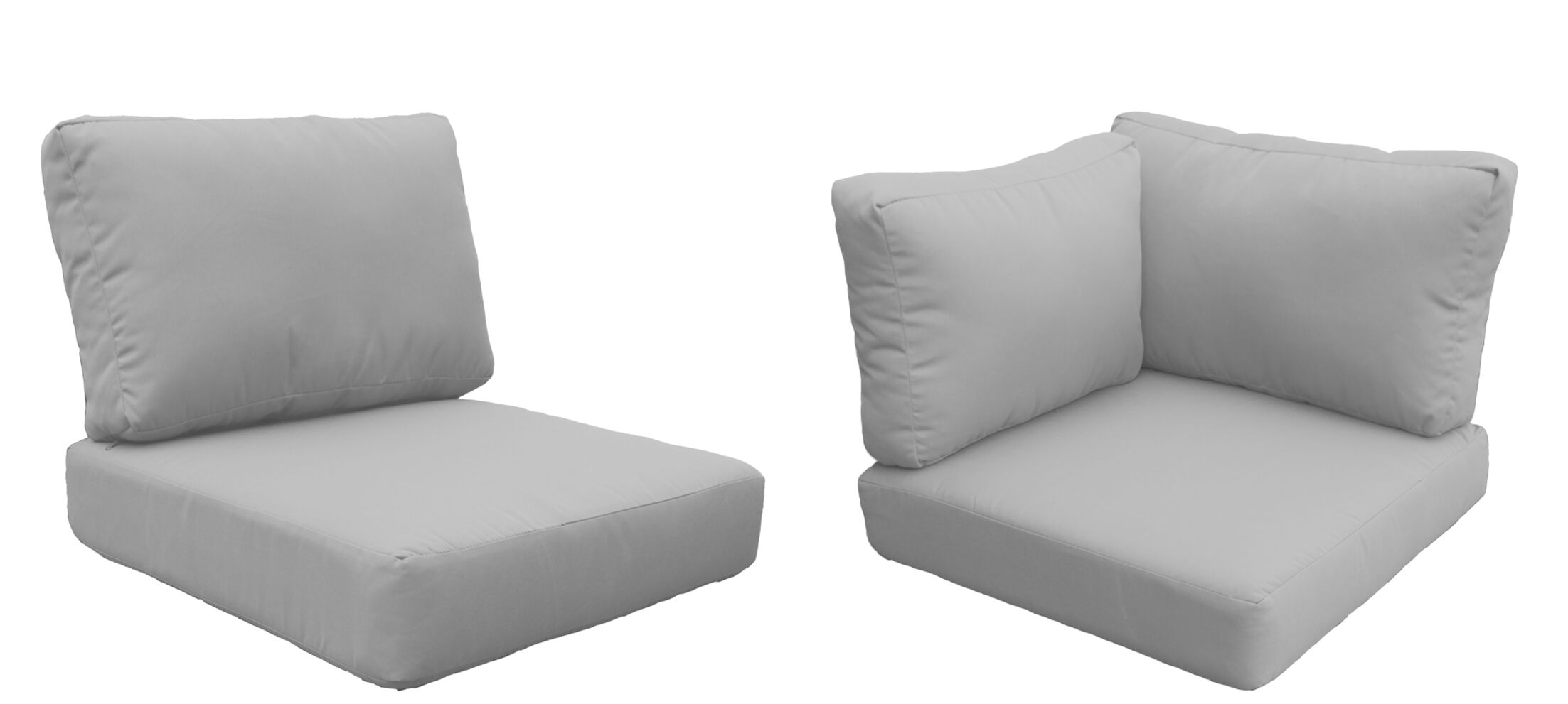 Fairmont 13 Piece OutdoorLounge Chair Cushion Set Fabric: Gray