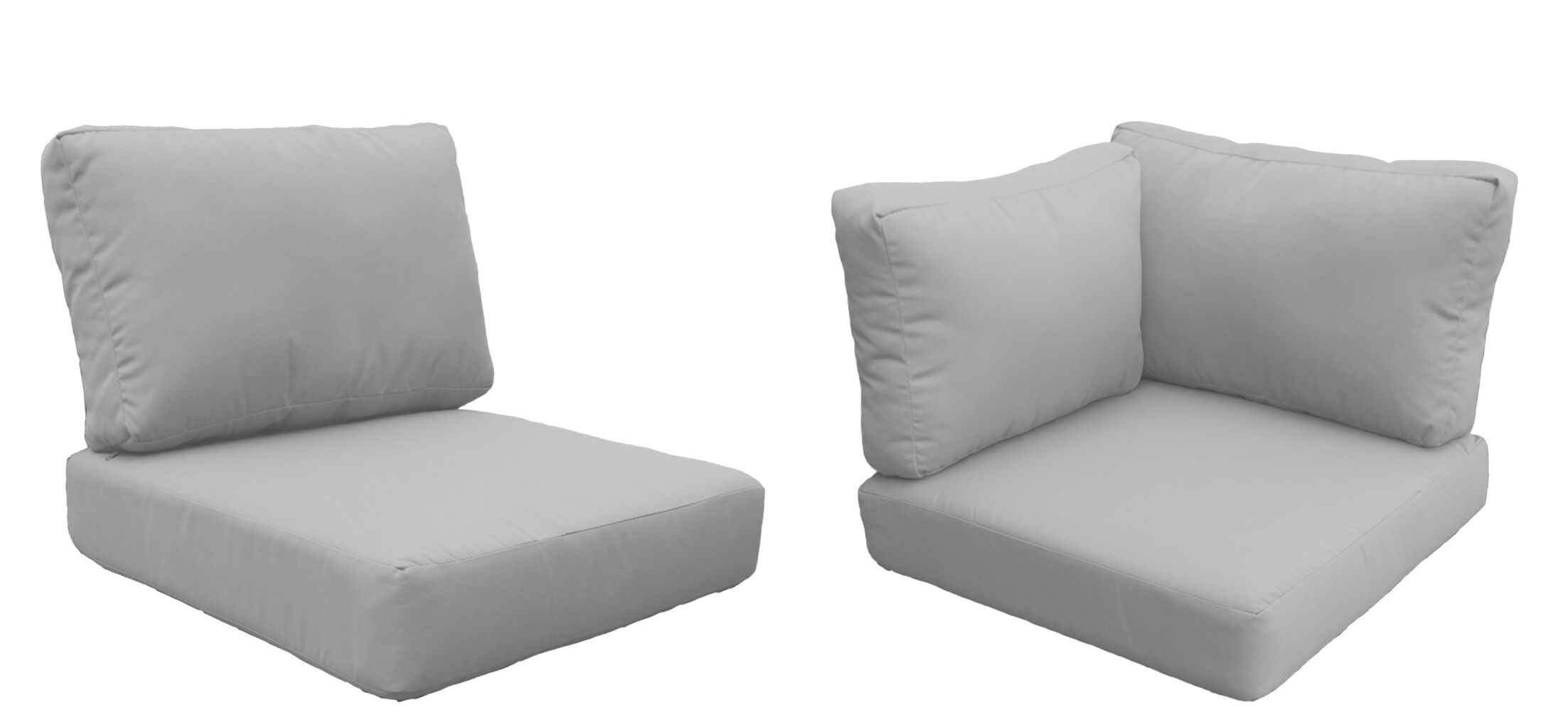 Eldredge Outdoor 14 Piece Lounge Chair Cushion Set Fabric: Gray