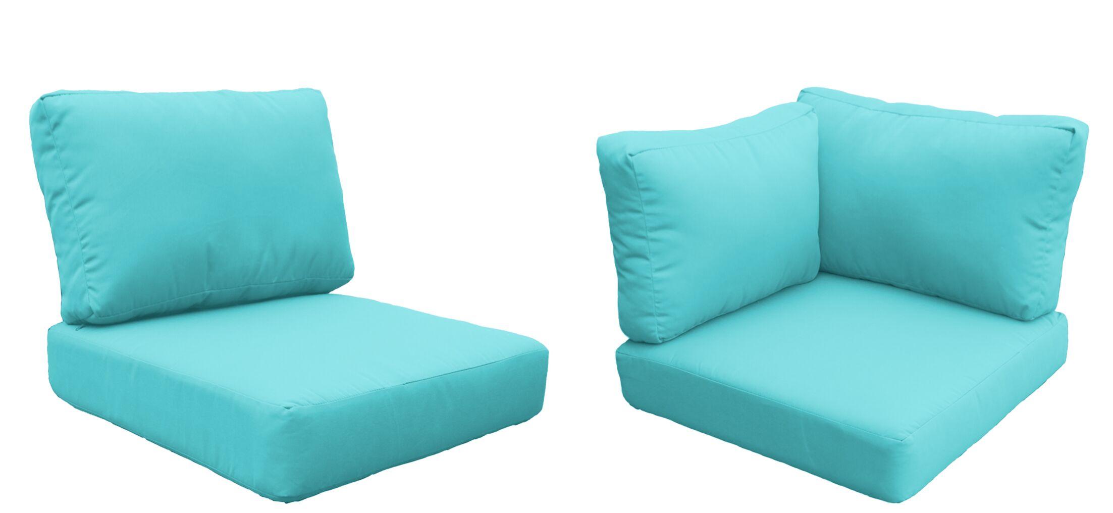 Eldredge Outdoor 15 Piece Lounge Chair Cushion Set Fabric: Aruba