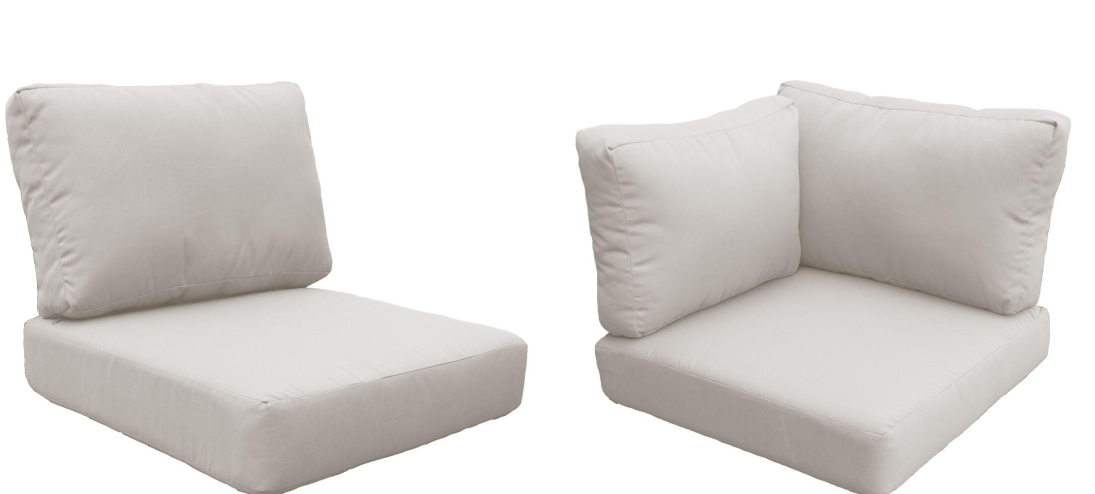Eldredge Outdoor 15 Piece Lounge Chair Cushion Set Fabric: Beige
