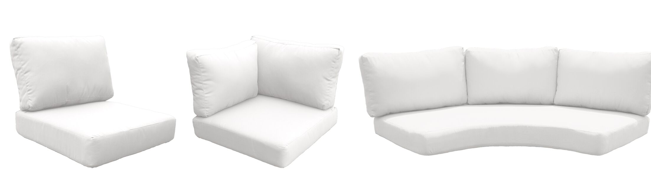 East Village 14 Piece Outdoor Cushion Set Fabric: White