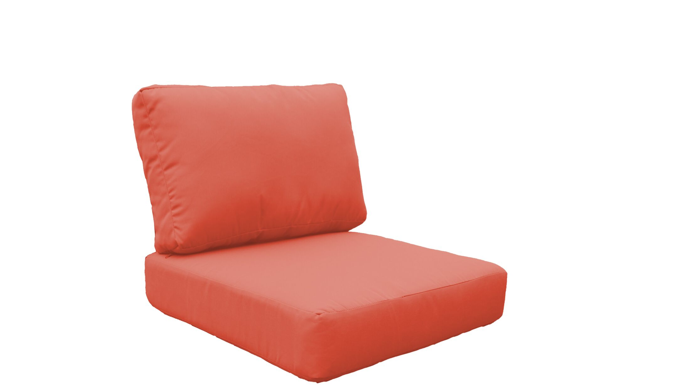 Fairmont 8 Piece Outdoor�Lounge Chair Cushion Set Fabric: Tangerine