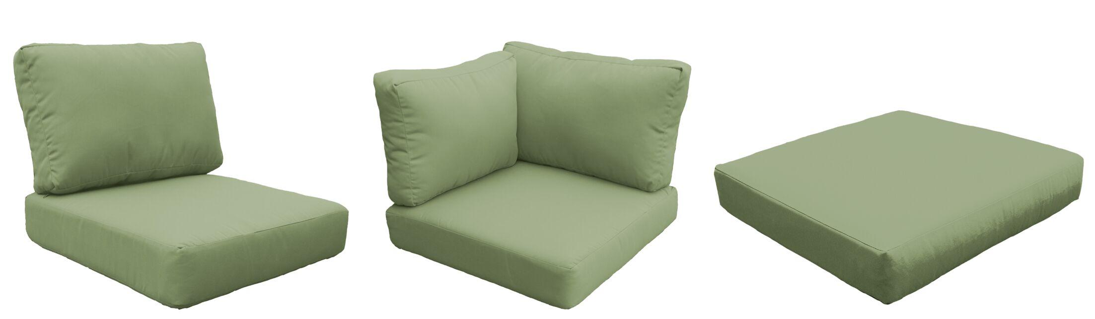 East Village 9 Outdoor Cushion Set Fabric: Cilantro