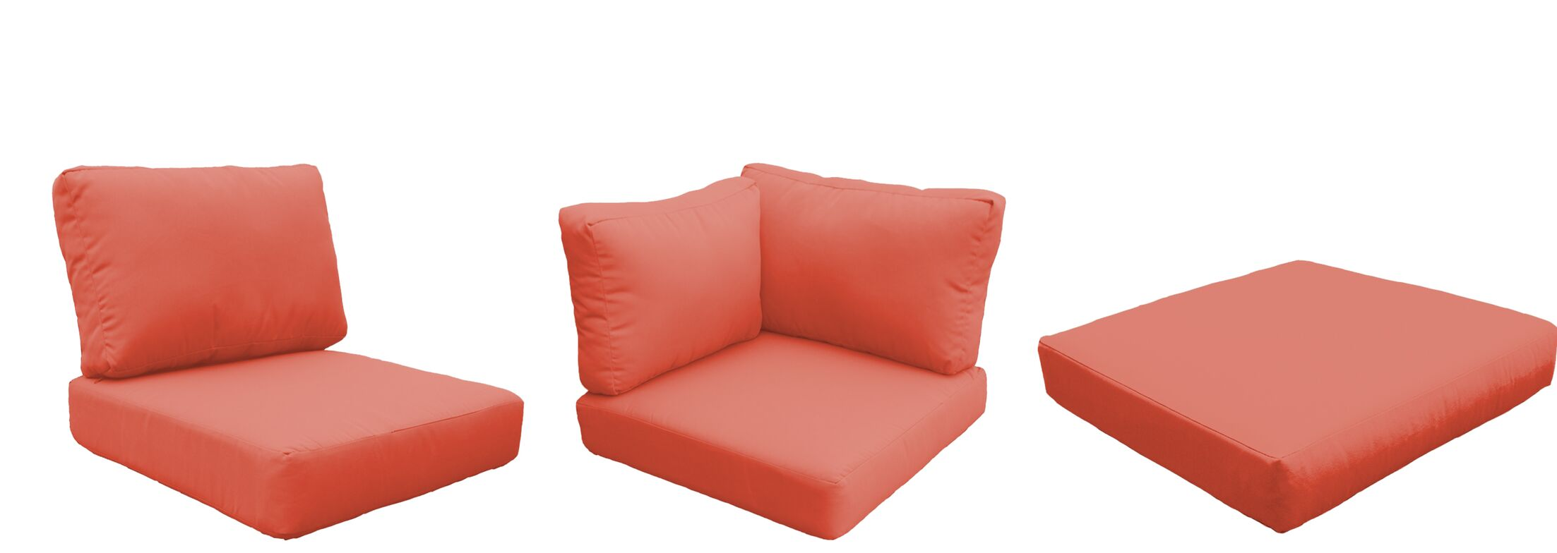 Fairmont Outdoor 19 Piece Lounge Chair Cushion Set Fabric: Tangerine