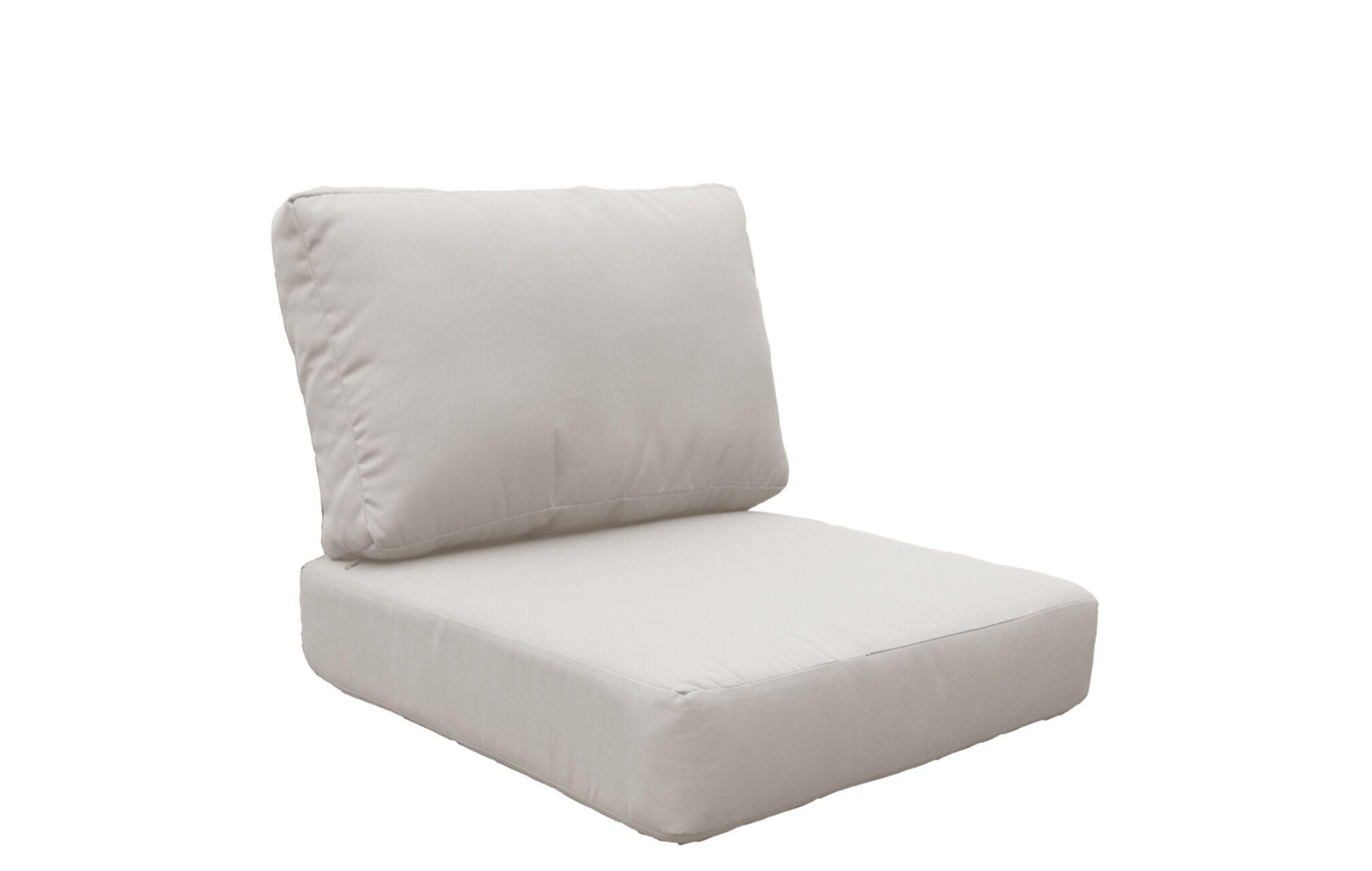Coast 10 Piece Outdoor Lounge Chair Cushion Set Fabric: Beige