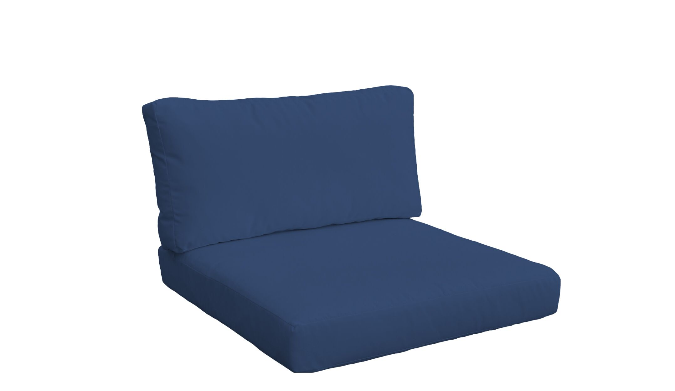 Monaco Outdoor 4 Piece Lounge Chair Cushion Set Fabric: Navy