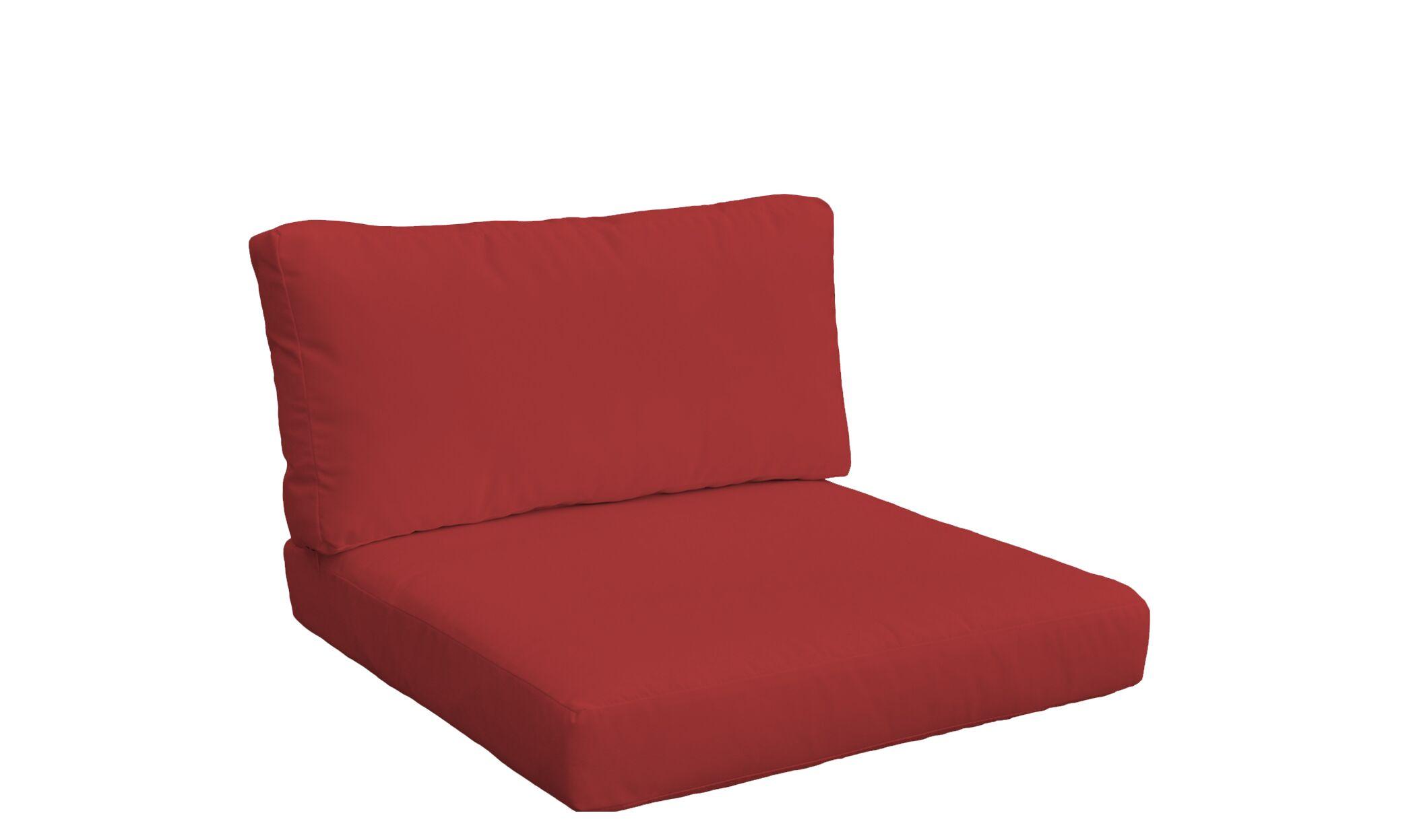 Monaco Outdoor 4 Piece Lounge Chair Cushion Set Fabric: Terracotta