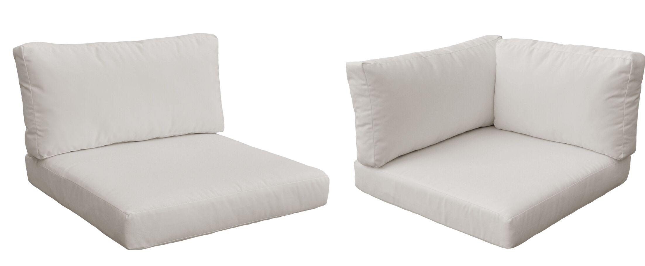 Belle 17 Piece Outdoor Cushion Set Fabric: Beige