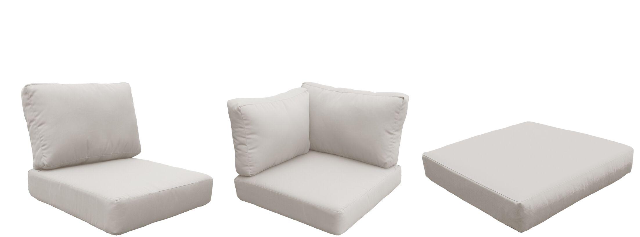 Eldredge Outdoor 18 Piece Lounge Chair Cushion Set Fabric: Beige