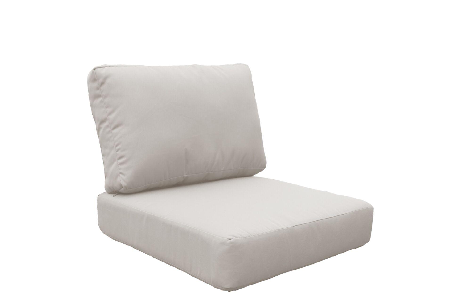 Coast 8 Piece Outdoor�Lounge Chair Cushion Set Fabric: Beige