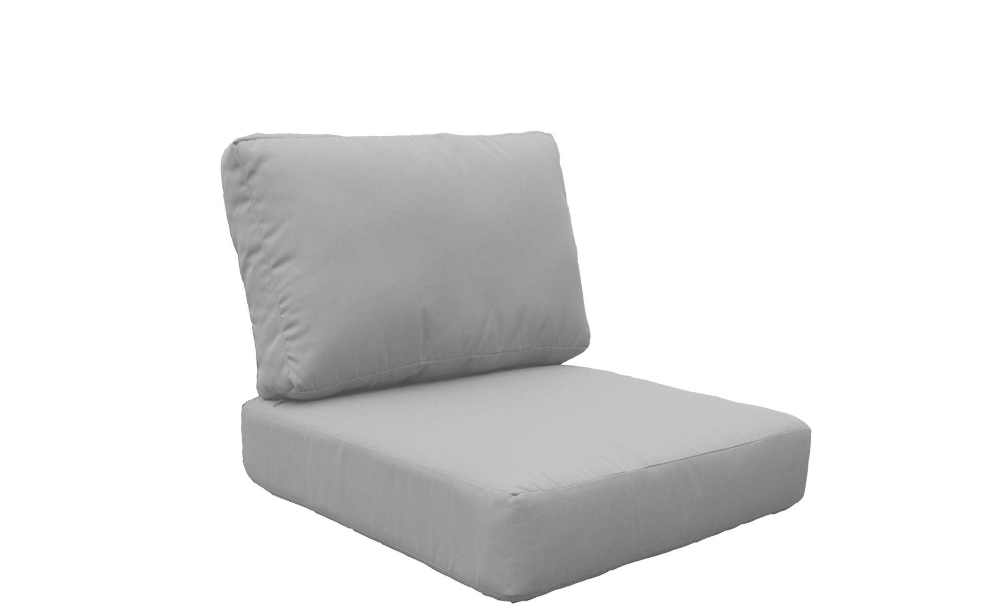 Coast 8 Piece Outdoor�Lounge Chair Cushion Set Fabric: Gray