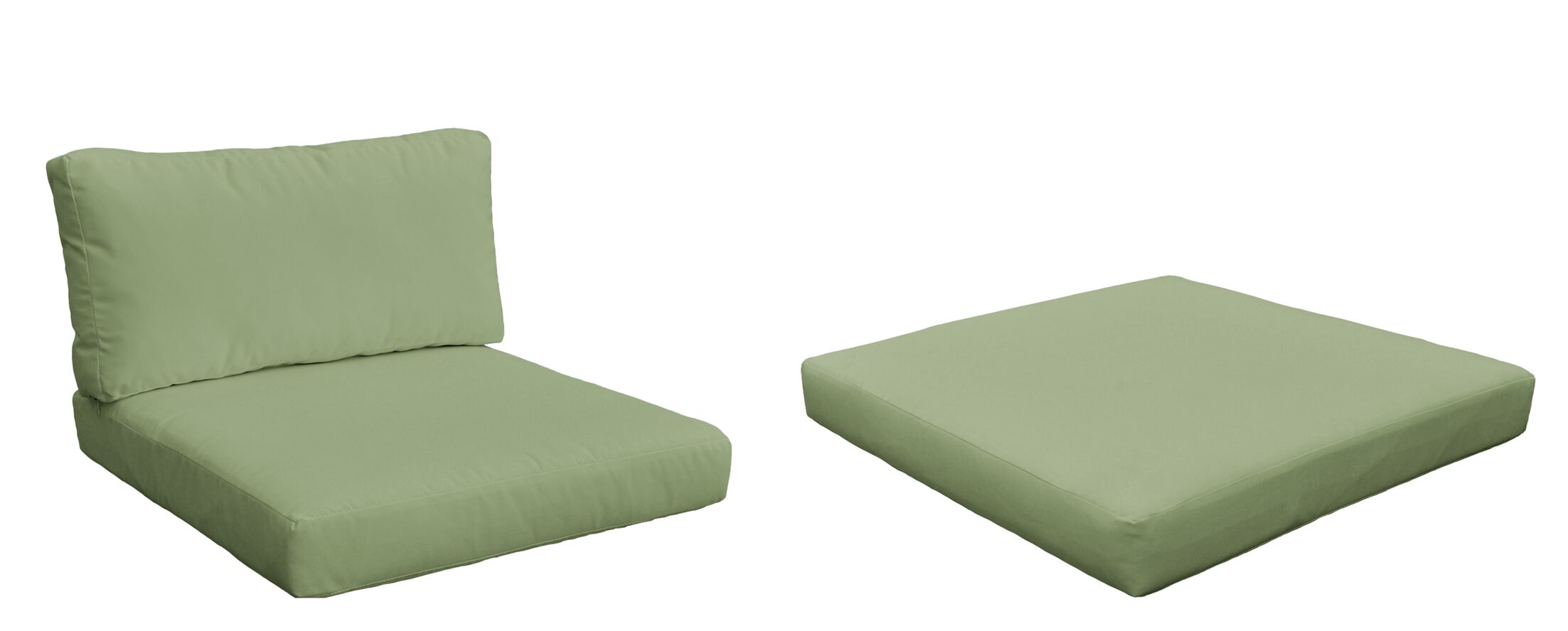 Monaco Outdoor 6 Piece Lounge Chair Cushion Set Fabric: Cilantro