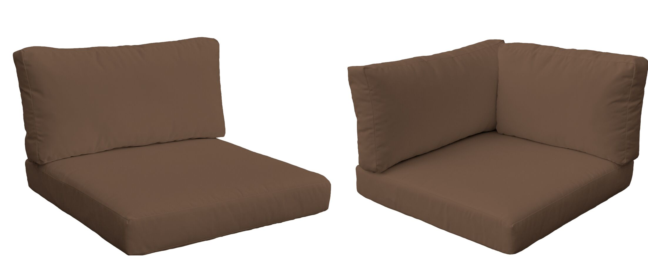 Monaco Outdoor 10 Piece Lounge Chair Cushion Set Fabric: Cocoa