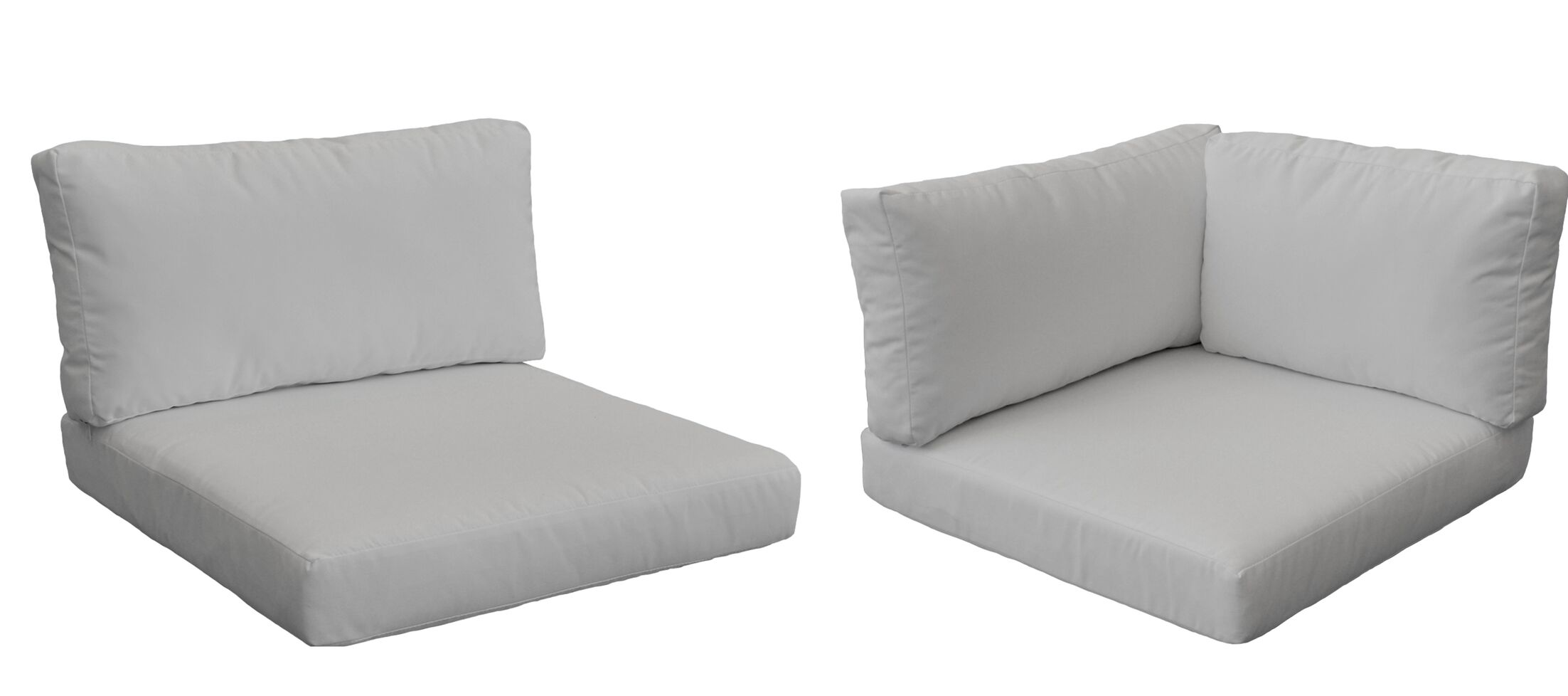 Monaco Outdoor 10 Piece Lounge Chair Cushion Set Fabric: Gray