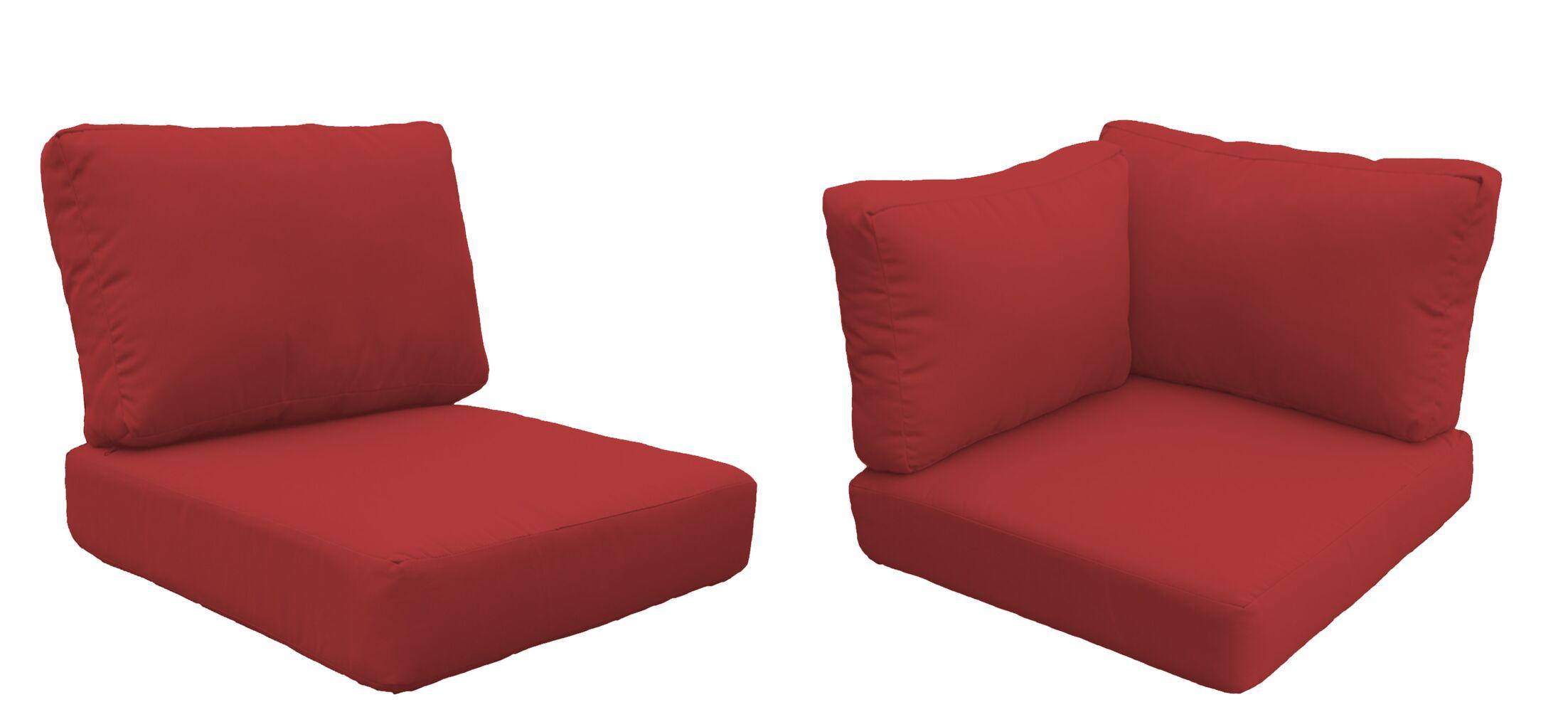 Capecod 13 Piece Outdoor Lounge Chair Cushion Set Fabric: Terracotta