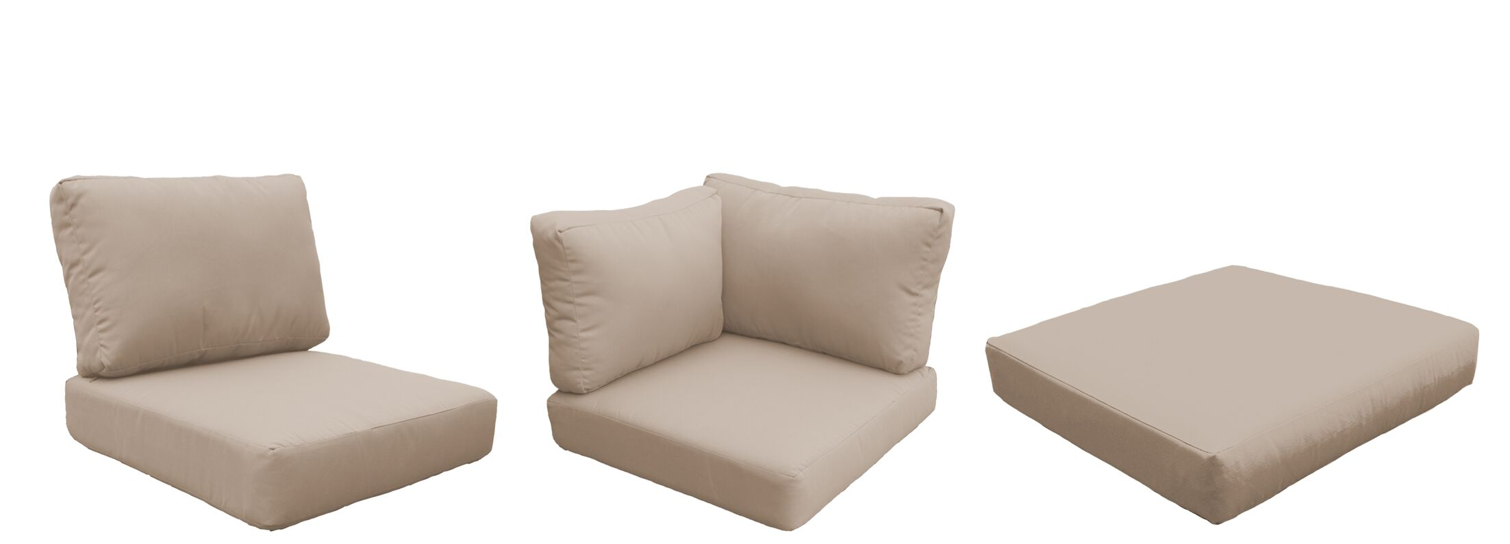 Capecod 16 Piece Outdoor Lounge Chair Cushion Set Fabric: Wheat