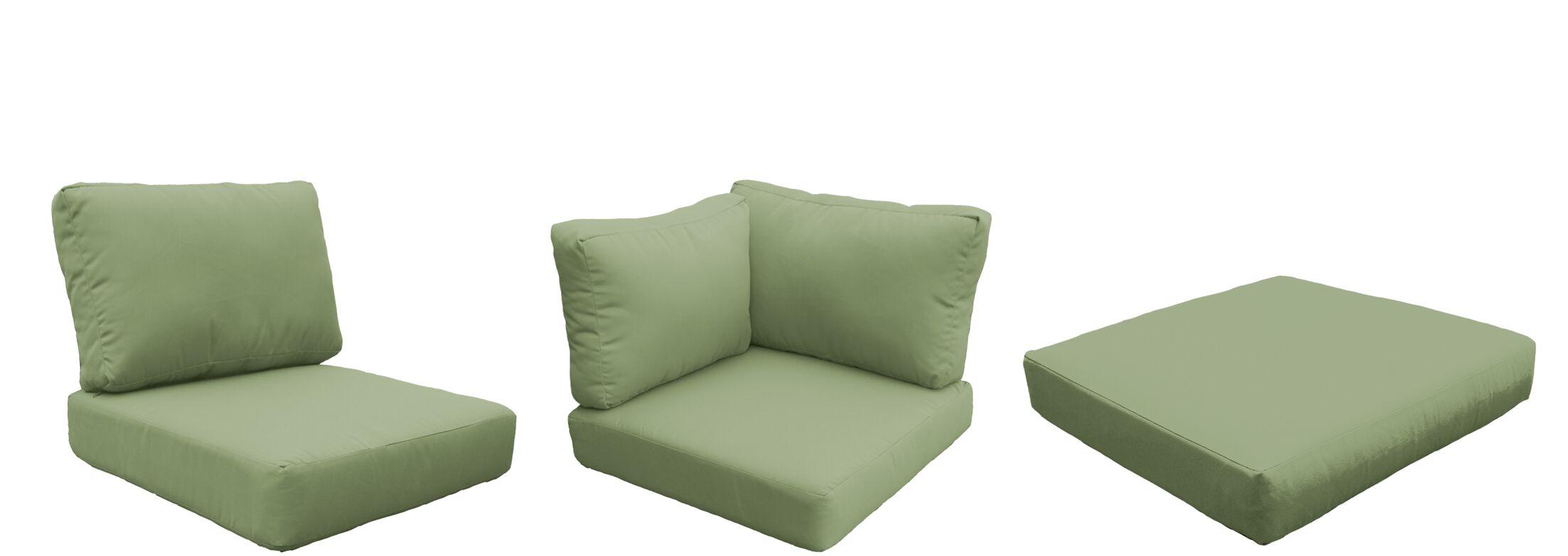Eldredge Outdoor 18 Piece Lounge Chair Cushion Set Fabric: Cilantro