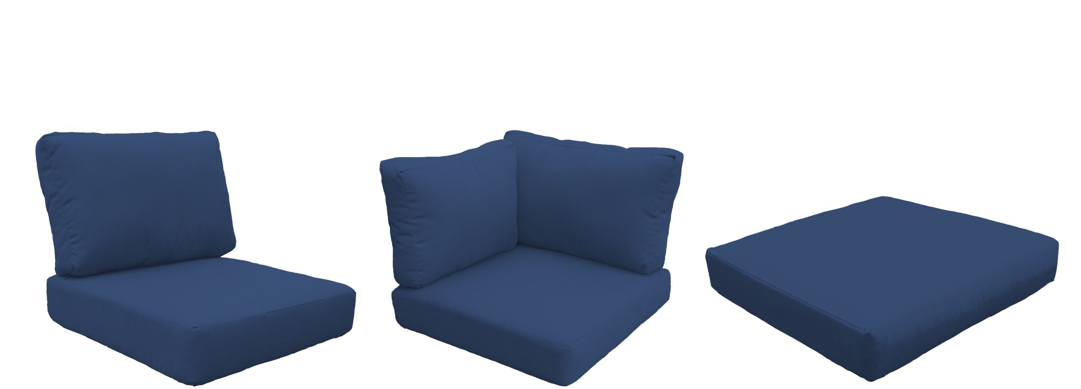 Eldredge Outdoor 18 Piece Lounge Chair Cushion Set Fabric: Navy