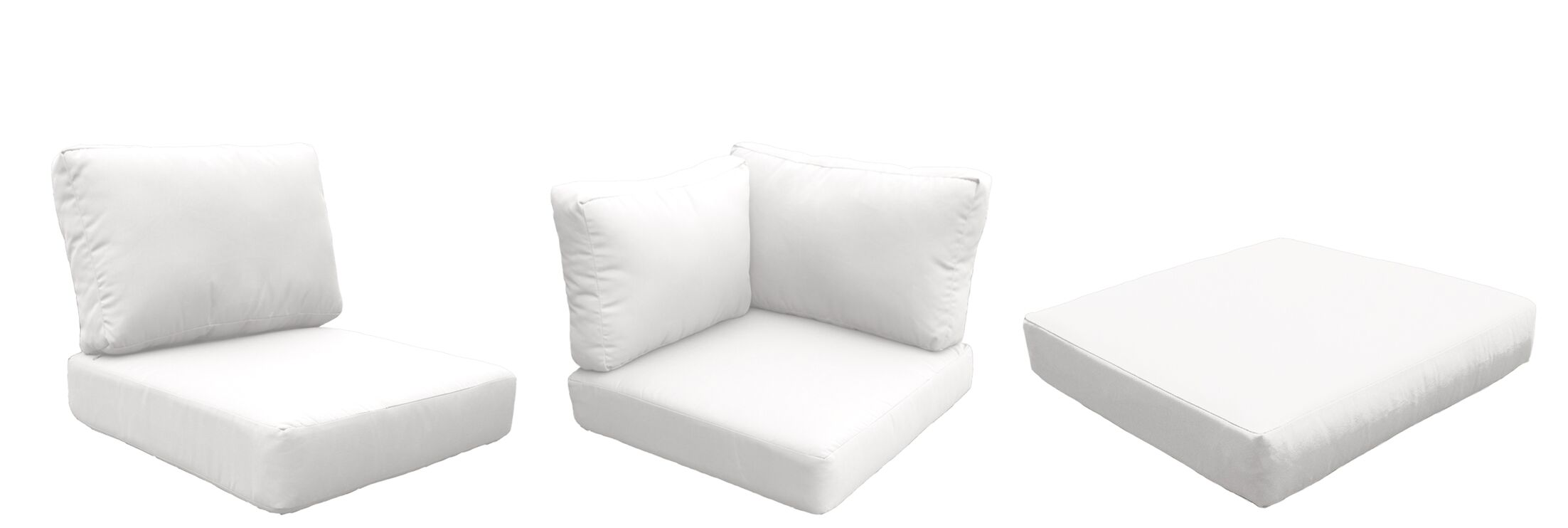 Eldredge Outdoor 18 Piece Lounge Chair Cushion Set Fabric: White