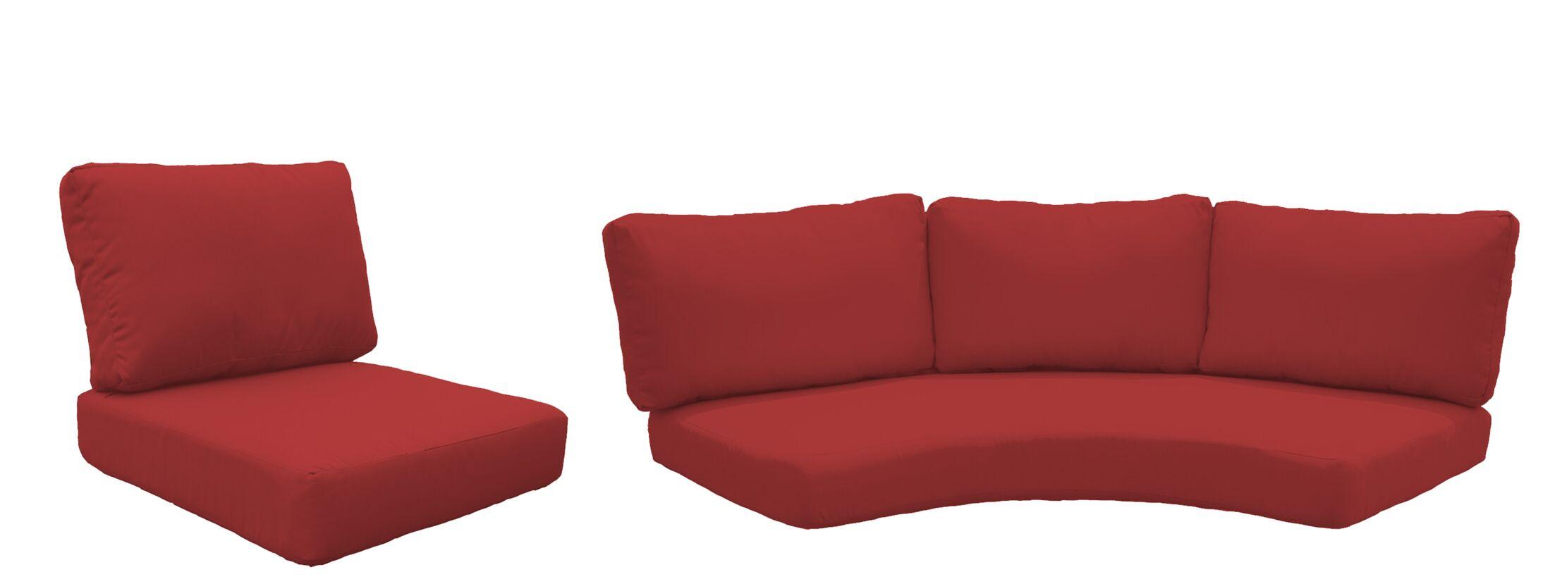 East Village Outdoor 14 Piece Lounge Chair Cushion Set Fabric: Terracotta