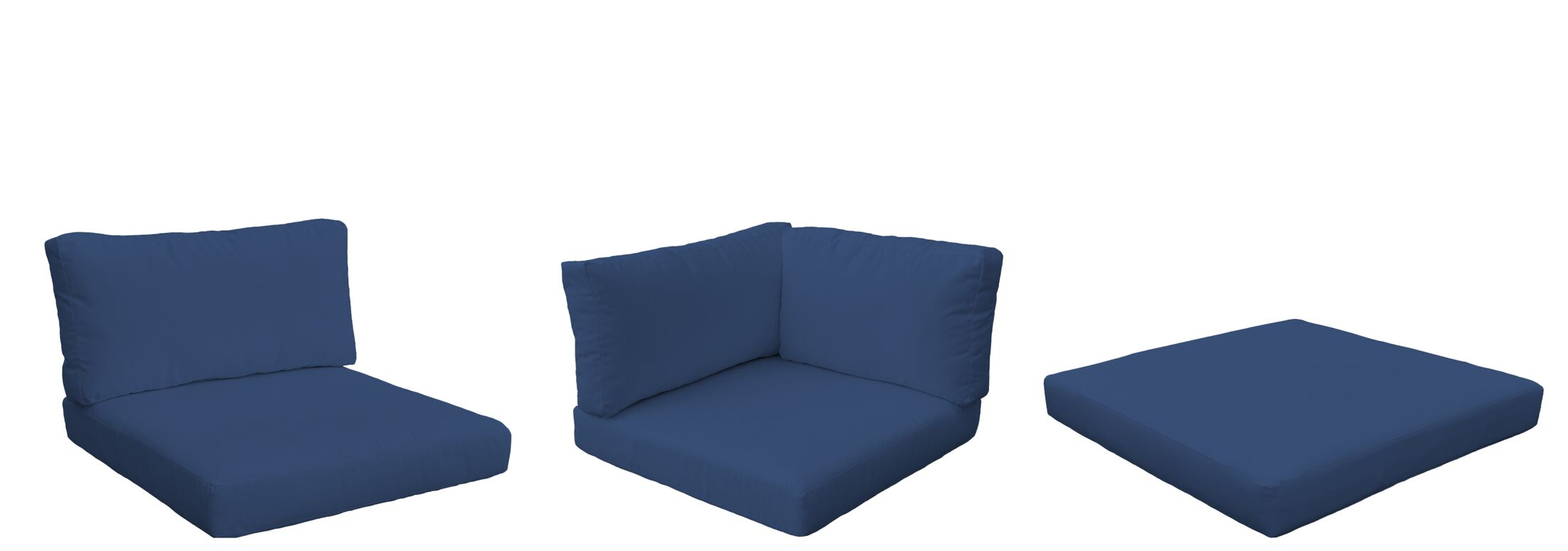 Monterey Outdoor 12 Piece Lounge Chair Cushion Set Fabric: Navy