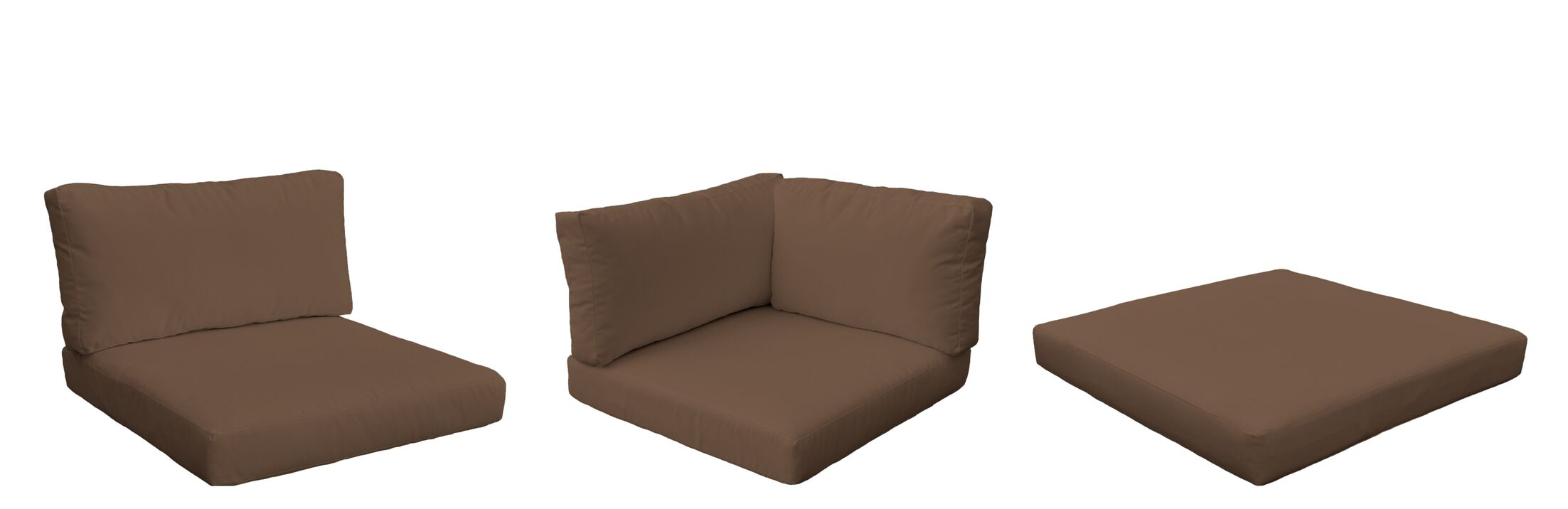 Monterey Outdoor 13 Piece Lounge Chair Cushion Set Fabric: Cocoa