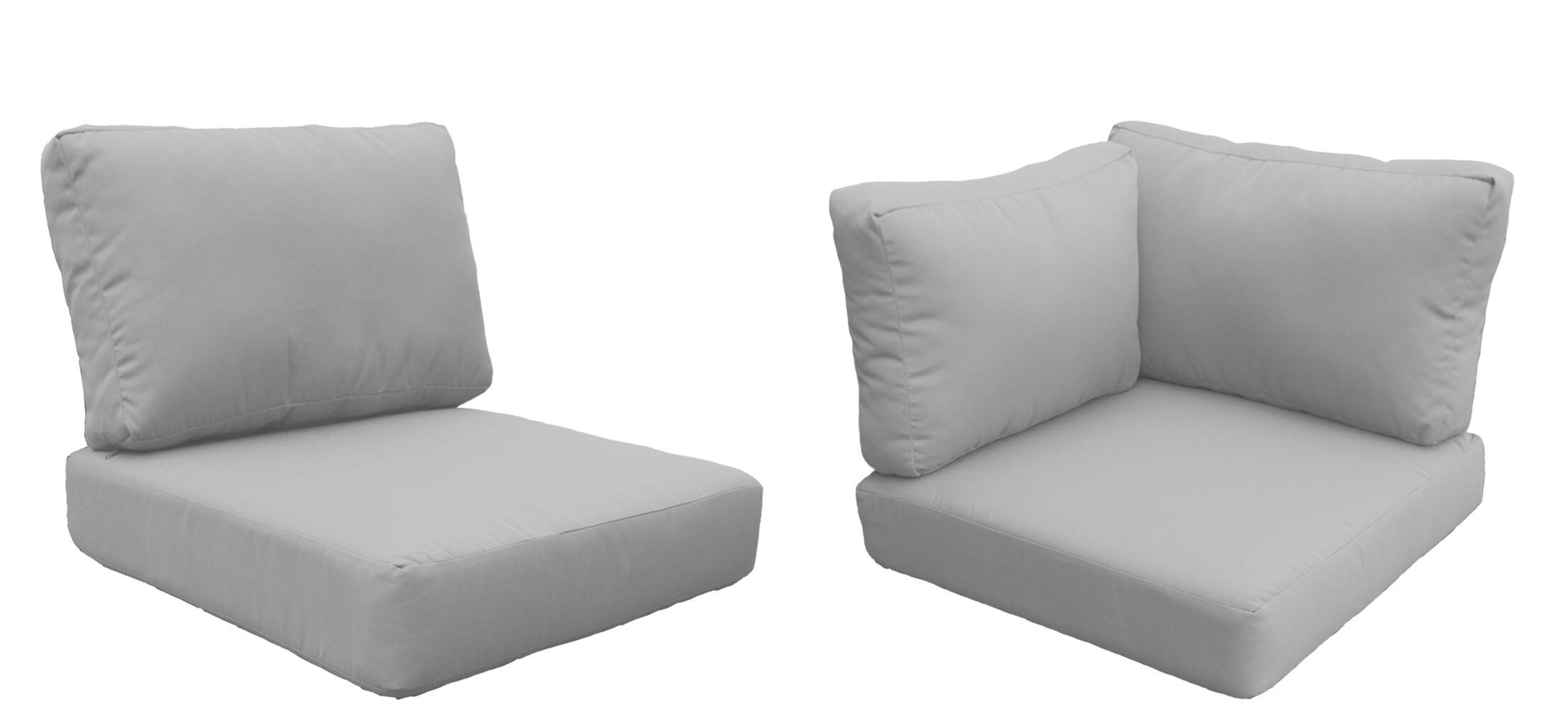 Fairmont 14 Piece Outdoor�Lounge Chair Cushion Set Fabric: Beige
