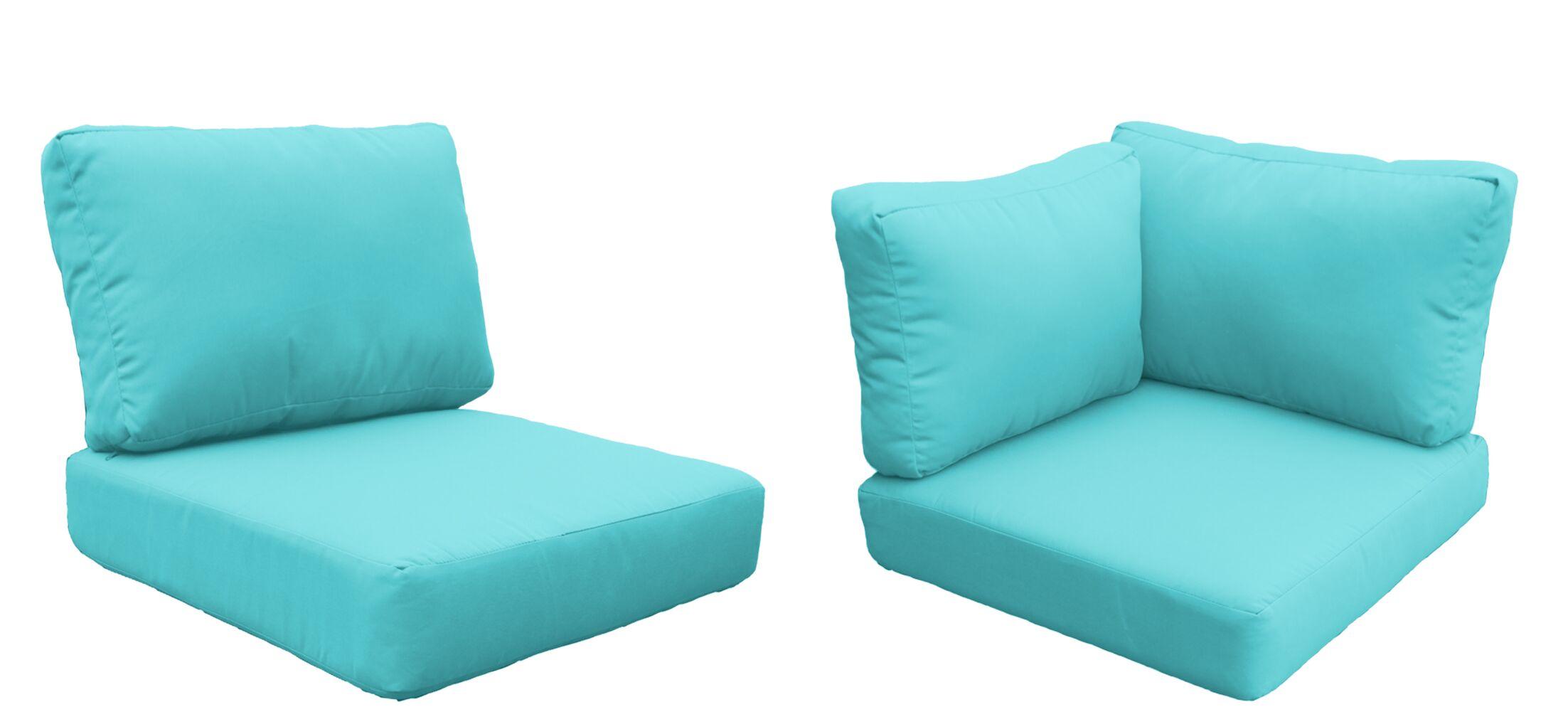 Fairmont 15 Piece Outdoor�Lounge Chair Cushion Set Fabric: Aruba