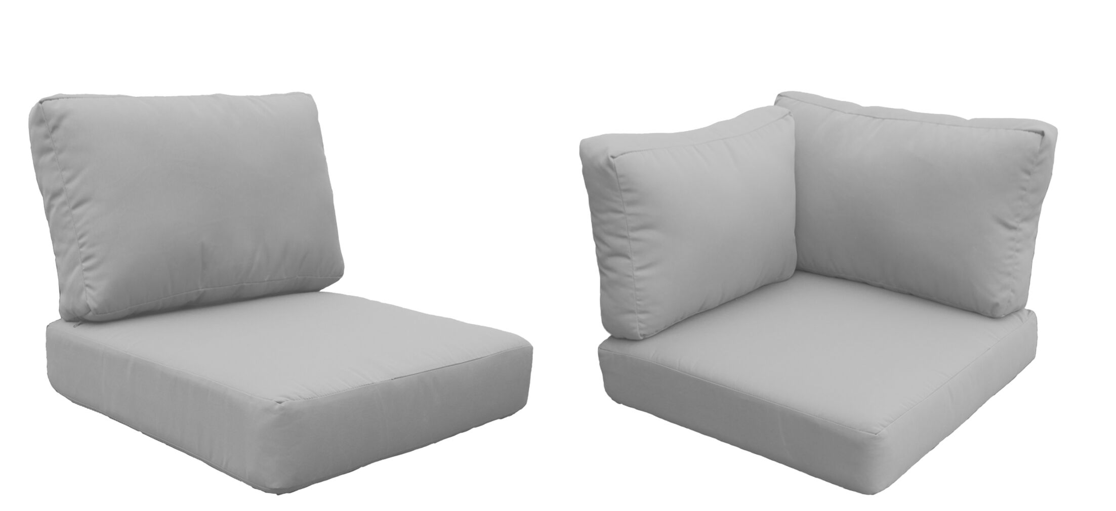 Fairmont 15 Piece Outdoor�Lounge Chair Cushion Set Fabric: Gray