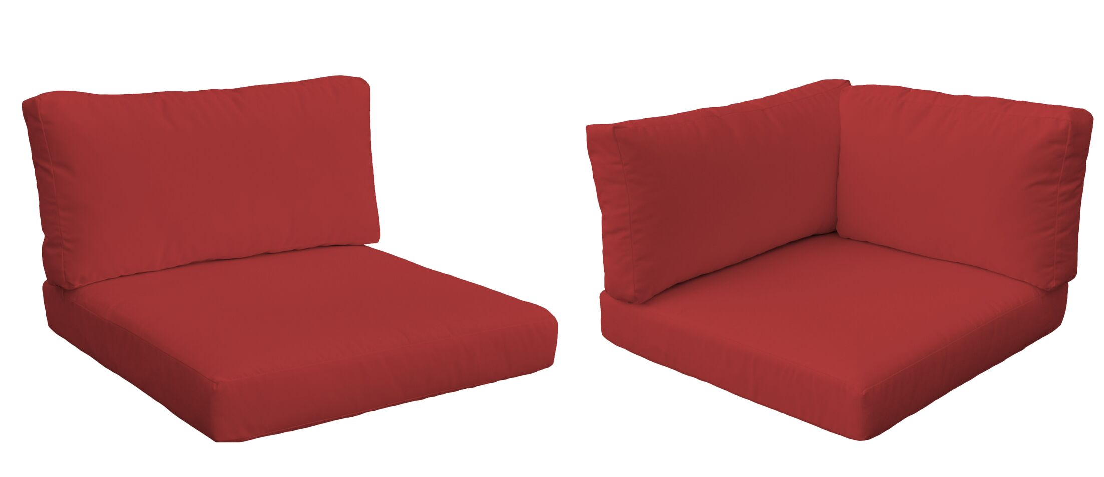 Monaco Outdoor 12 Piece Lounge Chair Cushion Set Fabric: Terracotta