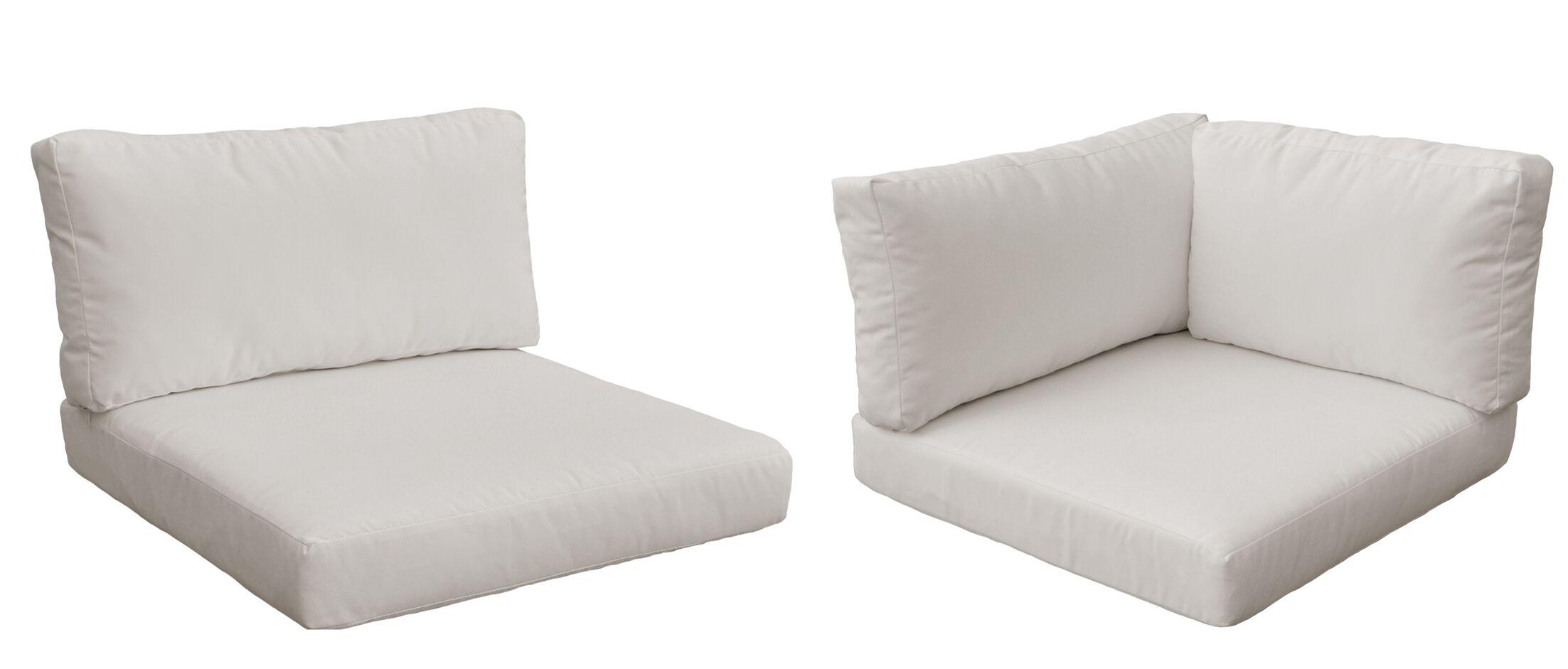 Monaco Outdoor 12 Piece Lounge Chair Cushion Set Fabric: Beige