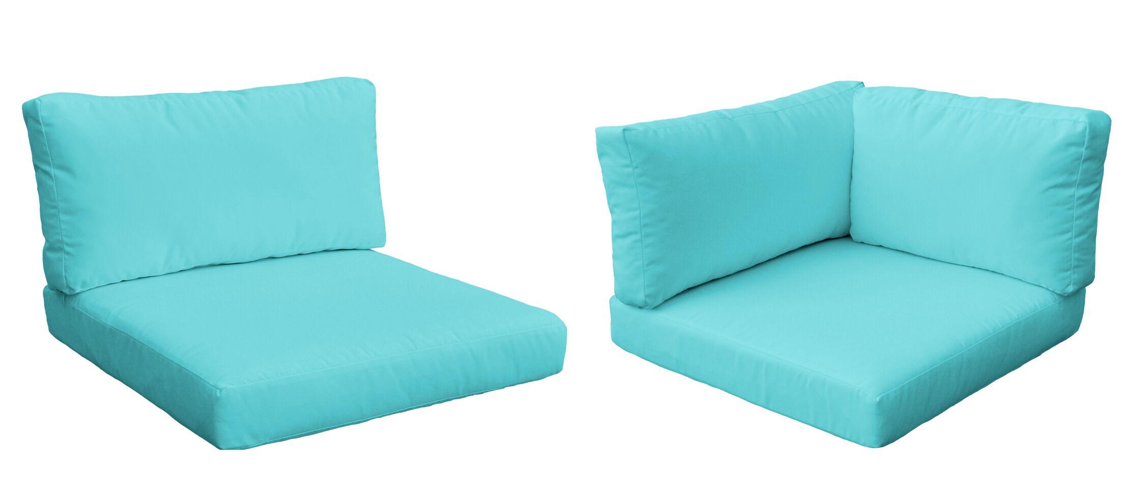 Belle 21 Piece Outdoor Lounge Chair Cushion Set Fabric: Aruba