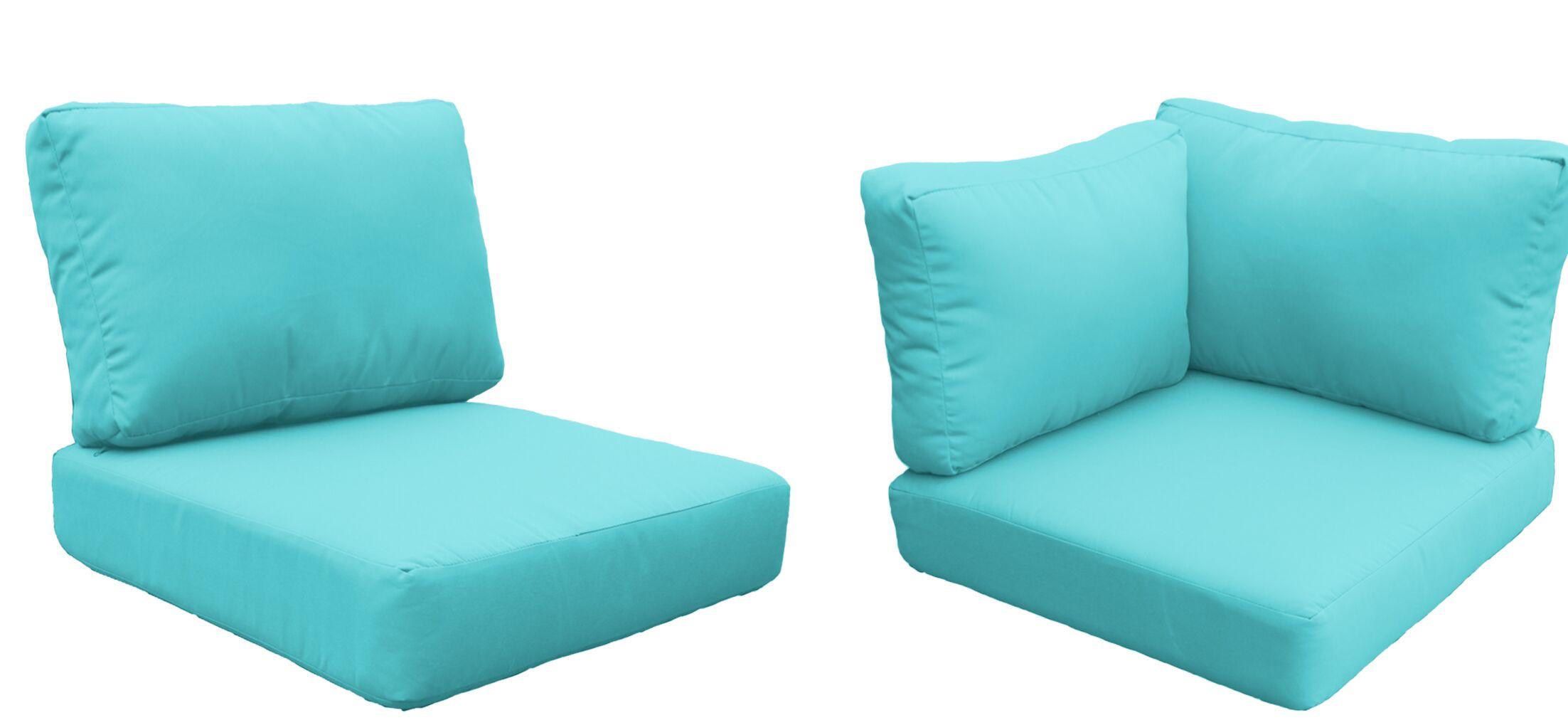 Eldredge Outdoor 17 Piece Lounge Chair Cushion Set Fabric: Aruba
