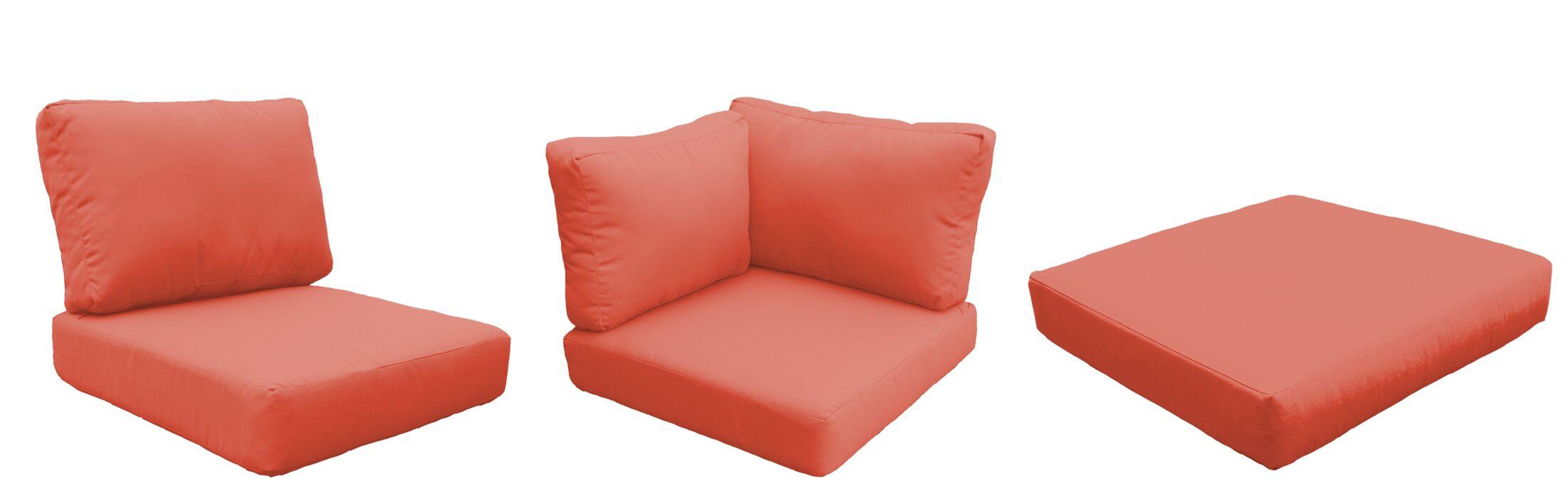 Eldredge 14 Piece Outdoor Cushion Set Fabric: Tangerine