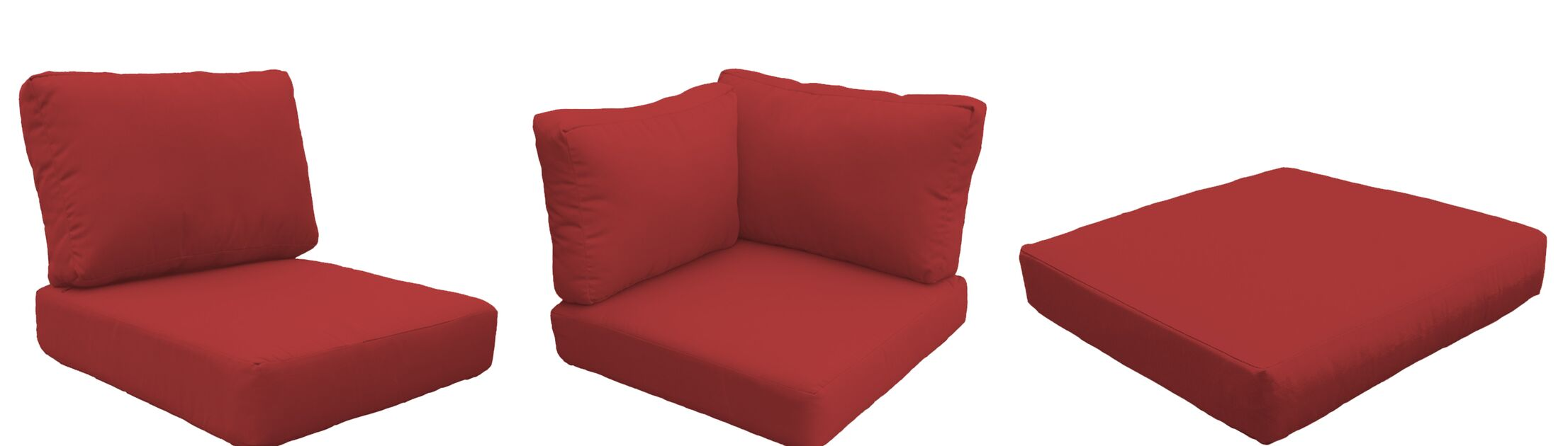 Eldredge 14 Piece Outdoor Cushion Set Fabric: Terracotta