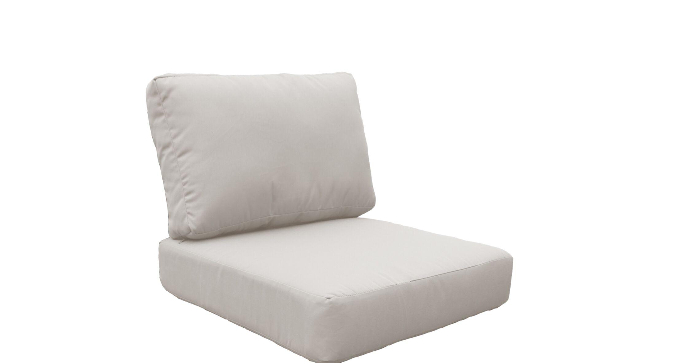 Fairmont 10 Piece Outdoor Lounge Chair Cushion Set Fabric: Beige
