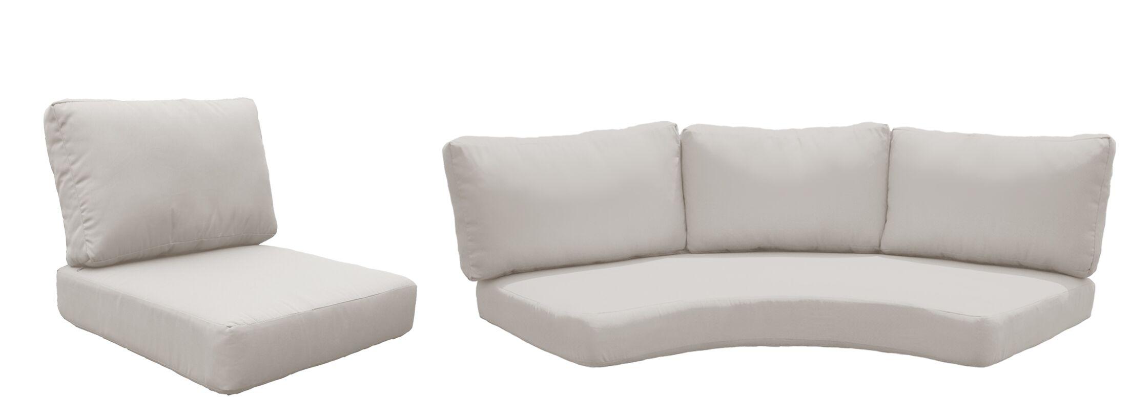 Fairmont 8 Piece Outdoor Cushion Set Fabric: Beige