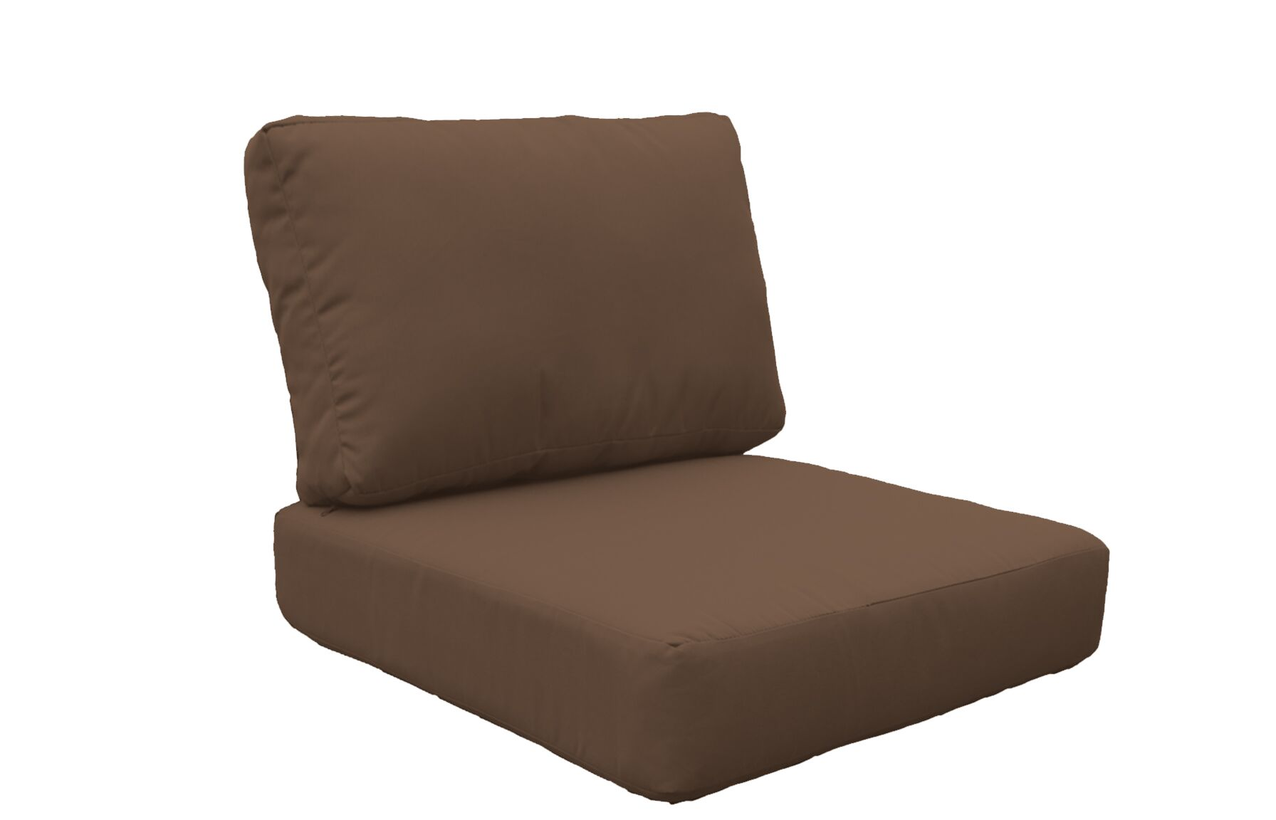 Coast 8 Piece Outdoor�Lounge Chair Cushion Set Fabric: Cocoa