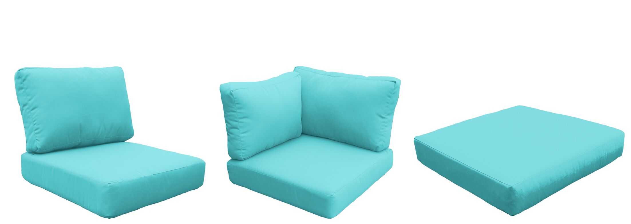 Capecod 21 Piece Outdoor Lounge Chair Cushion Set Fabric: Aruba