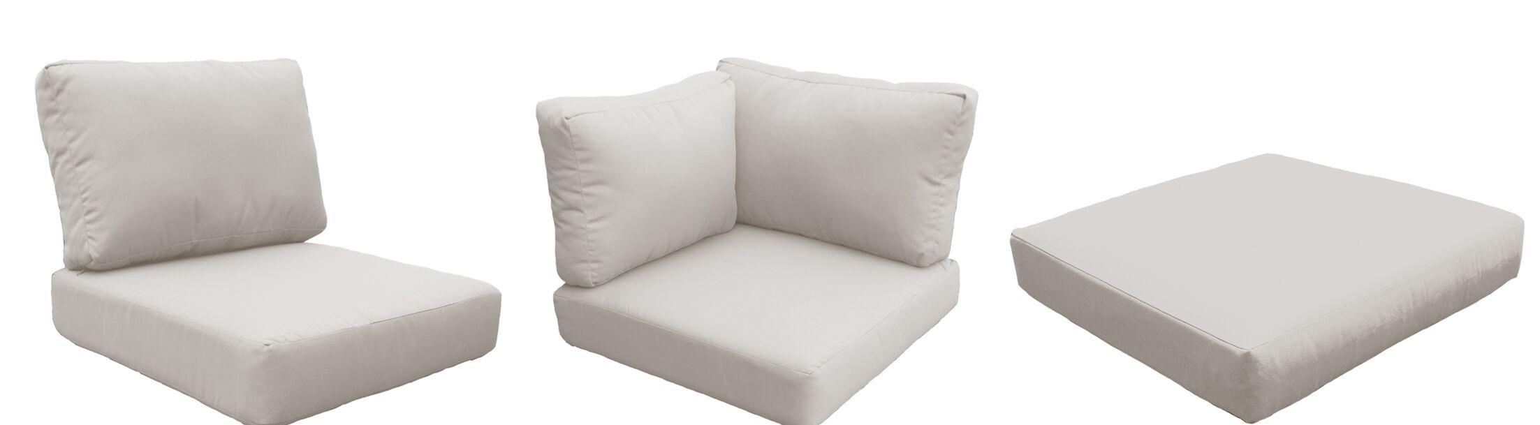 Fairmont 12 Piece Outdoor�Lounge Chair Cushion Set Fabric: Beige