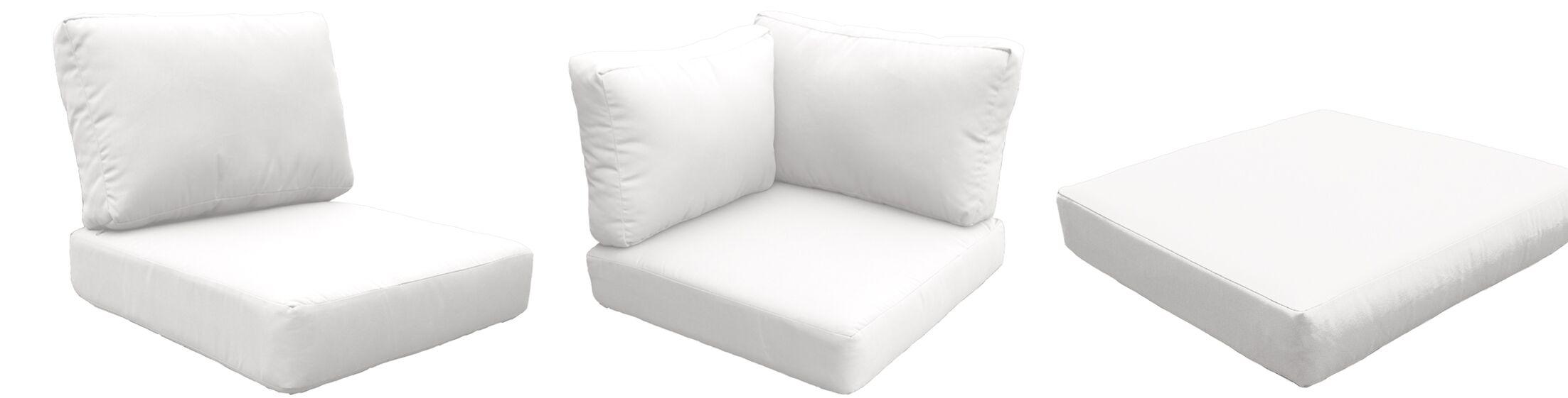 Fairmont 12 Piece Outdoor�Lounge Chair Cushion Set Fabric: White