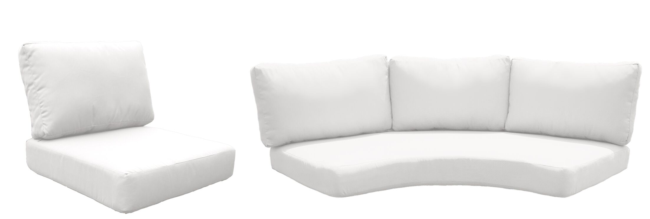 Fairmont 14 Piece Outdoor�Lounge Chair Cushion Set Fabric: White