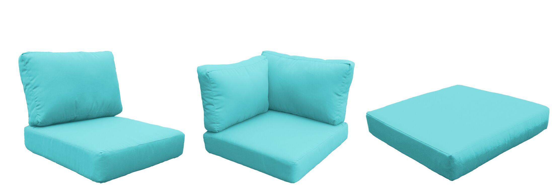 Coast Outdoor Replacement Cushion Set Fabric: Aruba