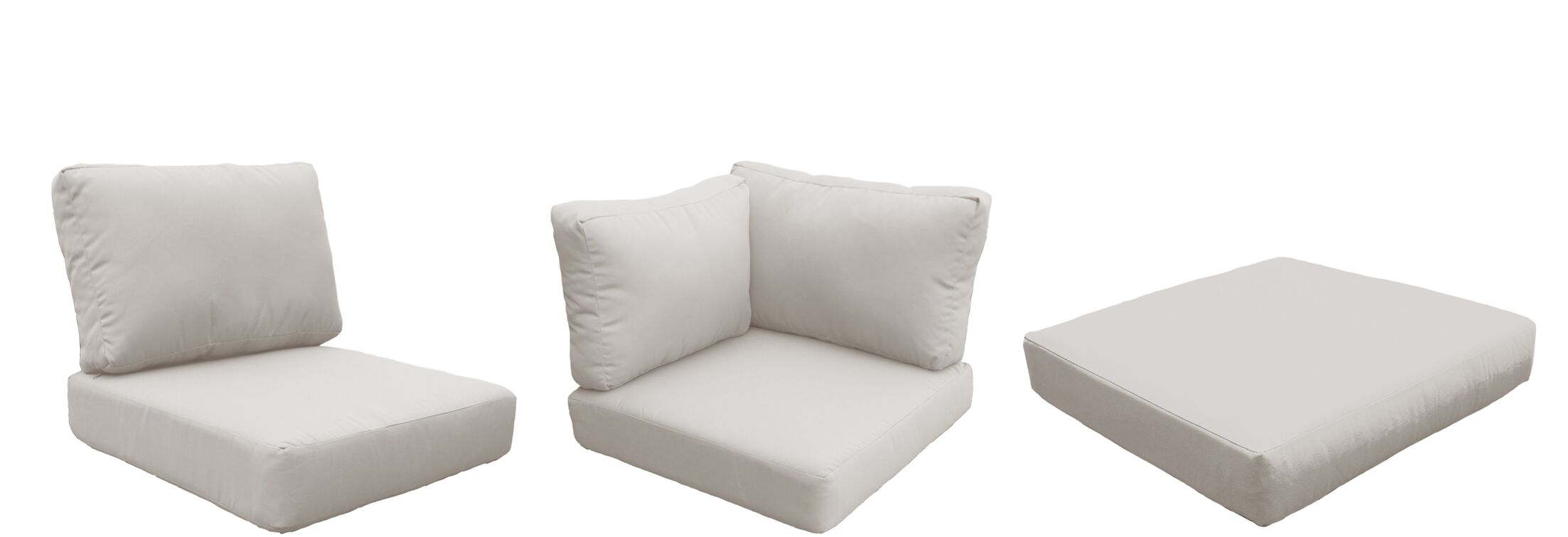 Coast Outdoor Replacement Cushion Set Fabric: Beige