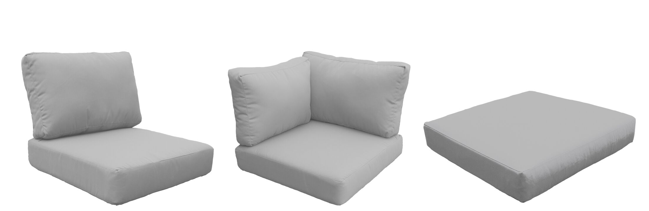Coast Outdoor Replacement Cushion Set Fabric: Gray